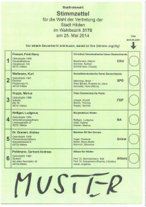 Stimmzettel--